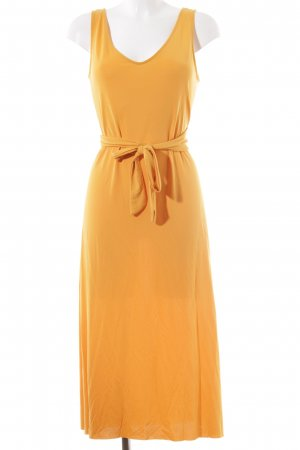 Mango Wickelkleid goldorange Beach-Look