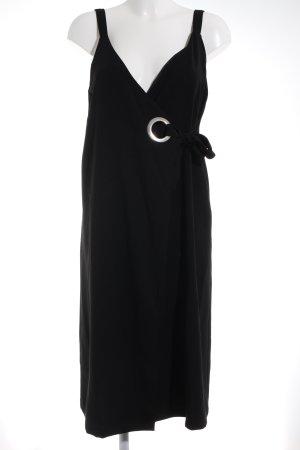 Mango Wickelkleid schwarz Elegant