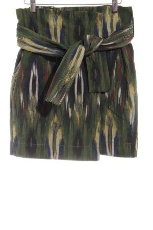 Mango Falda cruzada estampado con diseño abstracto elegante
