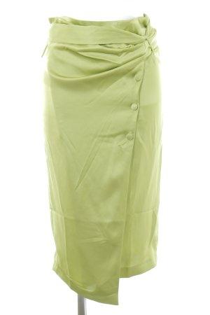 Mango Jupe portefeuille vert prairie style décontracté