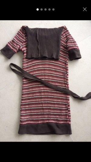 Mango Robe portefeuille brun-rose