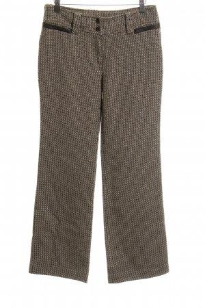 Mango Wollhose abstraktes Muster Business-Look
