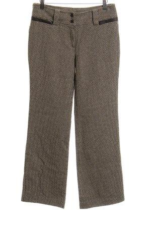 Mango Wollen broek abstract patroon zakelijke stijl