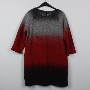 Mango Wollkleid Gr. XL grau/rot (19/02/081)