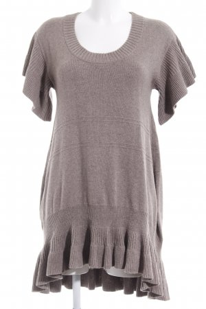 Mango Woolen Dress grey brown cable stitch casual look