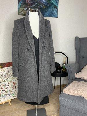 Mango Wool Coat light grey-grey