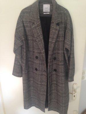 Mango Abrigo de lana negro-gris