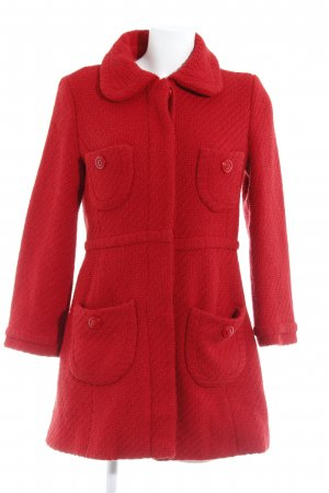 Mango Manteau en laine rouge style simple