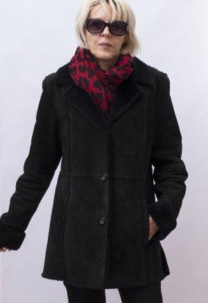 MANGOON Winterjacke Wildleder-Optik Damen Jacke Warm Gr. L/ 40