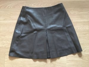 Mango Leather Skirt forest green