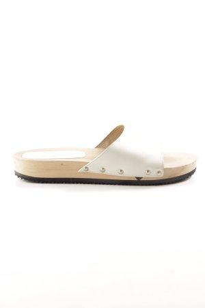 Manguun Clog Sandals oatmeal-light brown beach look