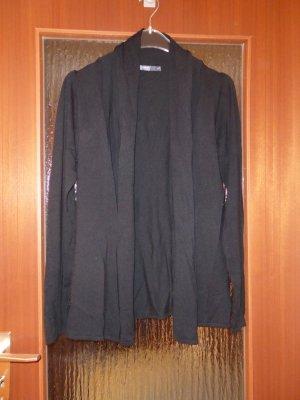 Manguun Collection offener Cardigan Strickjacke 40 Schwarz Neu