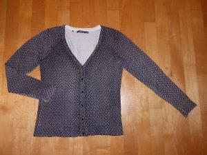 Manguun Collection Strickjacke Cardigan Schwarz-Weiß 44