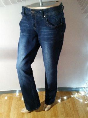 Manguun Jeans Darkblue Gr 42 neuwertig Boot Cut
