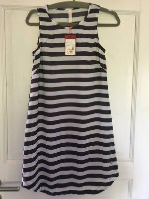 Manguun Kleid grau / weiß Streifen Gr. XS