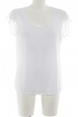 Manguun Short Sleeved Blouse white casual look 1ed5f8dbad