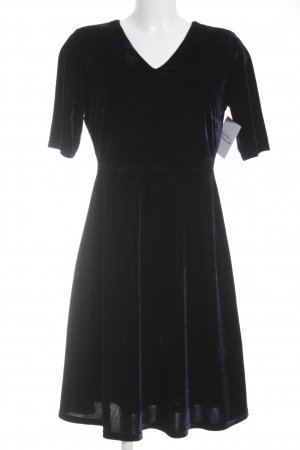 Manguun Kurzarmkleid dunkelblau 90ies-Stil