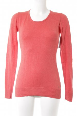 Manguun Long Sweater bright red casual look