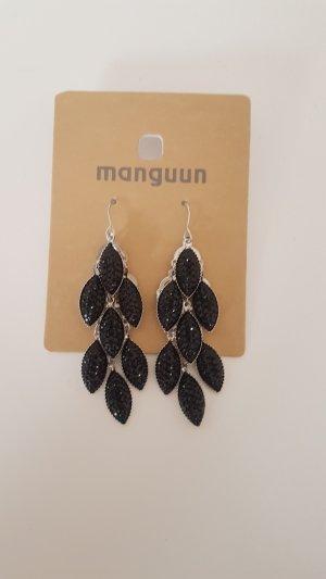Manguun Bungeloorbellen zwart-zilver