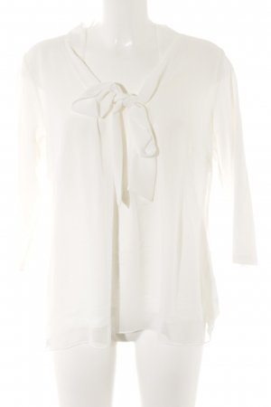 Manguun Tie-neck Blouse white casual look