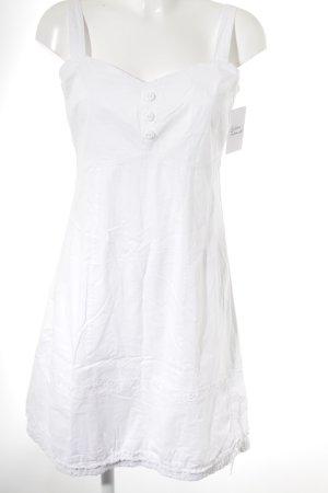 Manguun Robe épaules nues blanc style décontracté