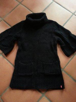 Manguun schwarzes Grobstrickkleid/Tunika XL