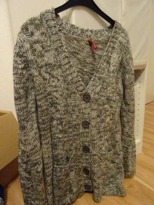 Manguun Coarse Knitted Jacket light grey-grey