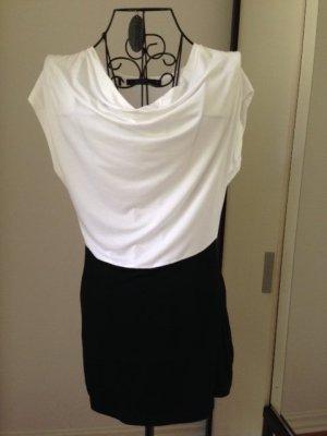 Manguun Wasserfall Shirt/ Top weiß/schwarz, Gr 36, NEU, edel!