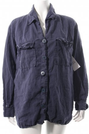 Mani Langarm-Bluse blauviolett Casual-Look