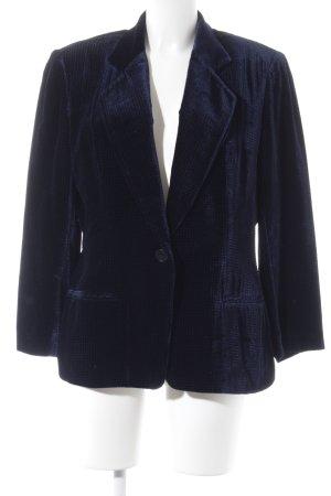 Mani Blazer de esmoquin azul oscuro-negro estampado gráfico