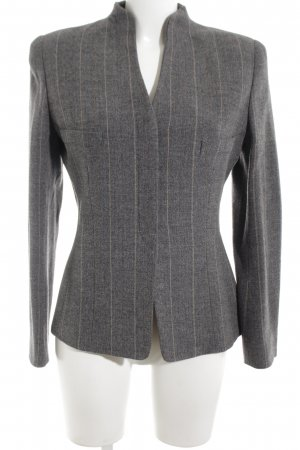 Mani Wool Blazer silver-colored striped pattern business style