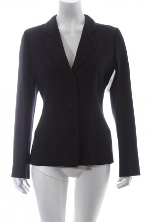 Mani Woll-Blazer schwarz Business-Look