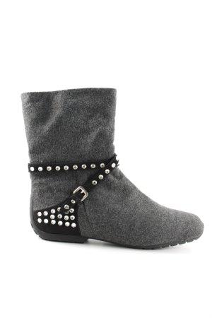 Mania Short Boots light grey-black flecked casual look