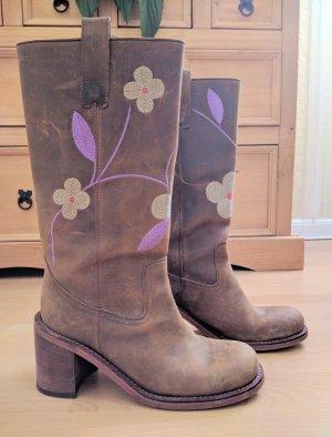 Mania Leder Stiefel Boots Cowboy