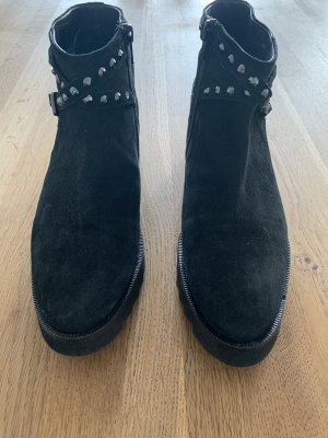 Mania Zipper Booties black