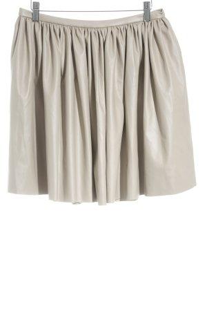 Manifiq & Co. Rok van imitatieleder beige straat-mode uitstraling