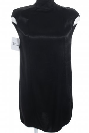 Manila Grace Robe trapèze noir élégant