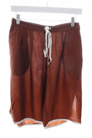 Manila Grace Culottes bronze-colored-white wet-look