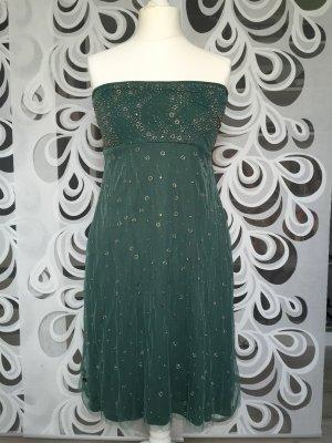 Manila Grace Vestido bandeau verde bosque
