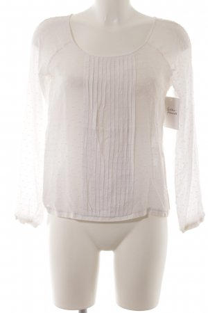 Manila Grace Langarm-Bluse wollweiß Punktemuster klassischer Stil