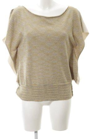 Manila Grace Oversized Shirt goldfarben-wollweiß abstraktes Muster Casual-Look