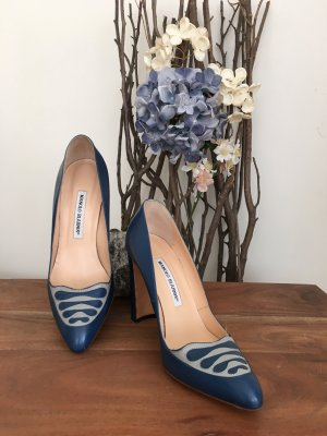 Manolo Blahnik Blockabsatz Pumps Gr.37 Vintage