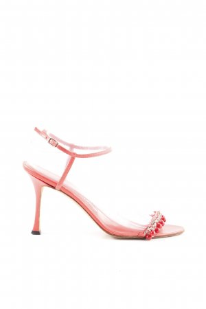 Manolo Blahnik Strapped High-Heeled Sandals red elegant