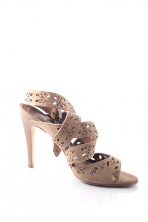 Manolo Blahnik Strapped High-Heeled Sandals light brown elegant