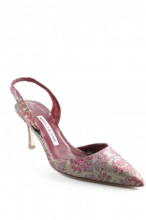 Manolo Blahnik Slingback pumps abstract patroon straat-mode uitstraling