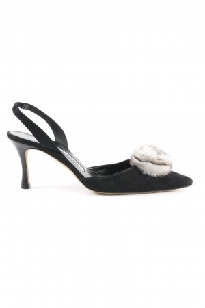 Manolo Blahnik Slingback-Pumps schwarz Street-Fashion-Look