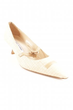 Manolo Blahnik Spitz-Pumps creme-beige Casual-Look