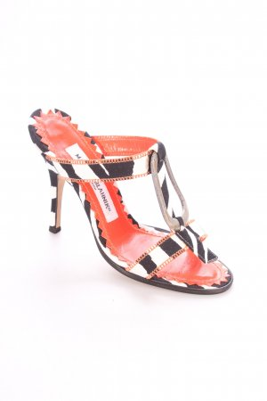 Manolo Blahnik T-Steg-Sandaletten abstraktes Muster extravaganter Stil