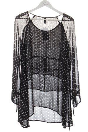 Manon Baptiste Blusenkleid schwarz-weiß Punktemuster Casual-Look