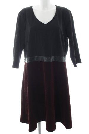 Manon Baptiste Langarmkleid schwarz-bordeauxrot Elegant